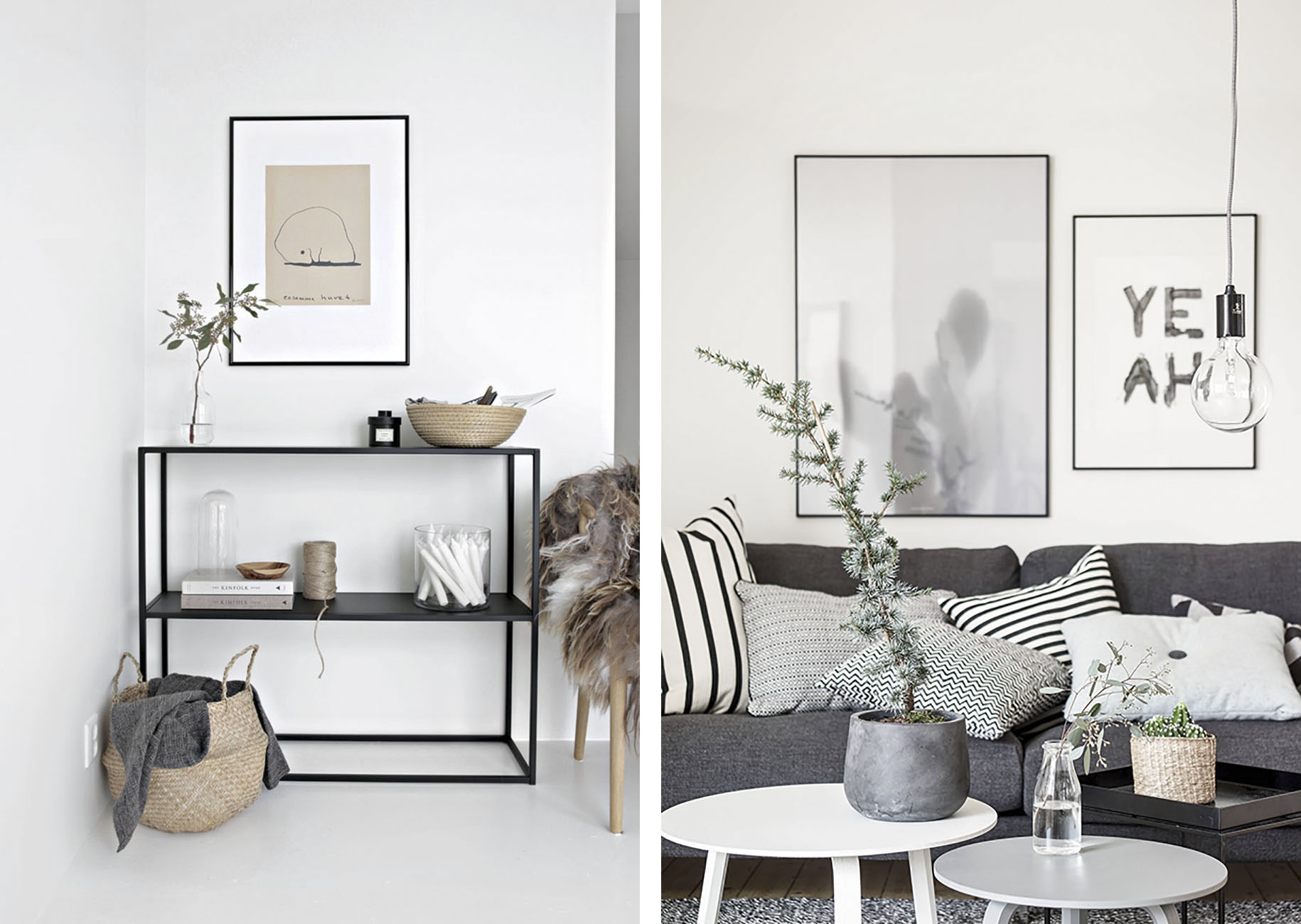Scandinavian interiors with natural materials basic for Scandinavian interior