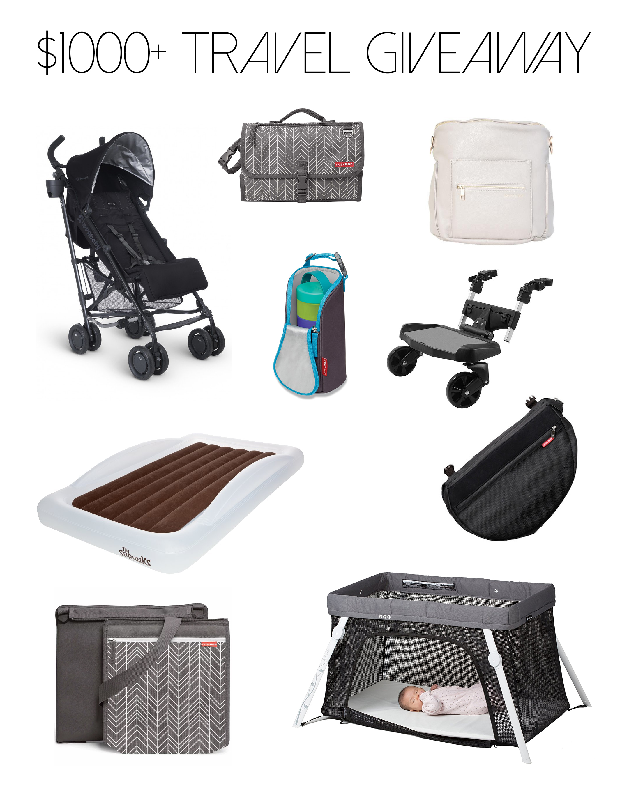 Best travel gear for babies and toddlers - giveaway prize package | Happy Grey Lucky