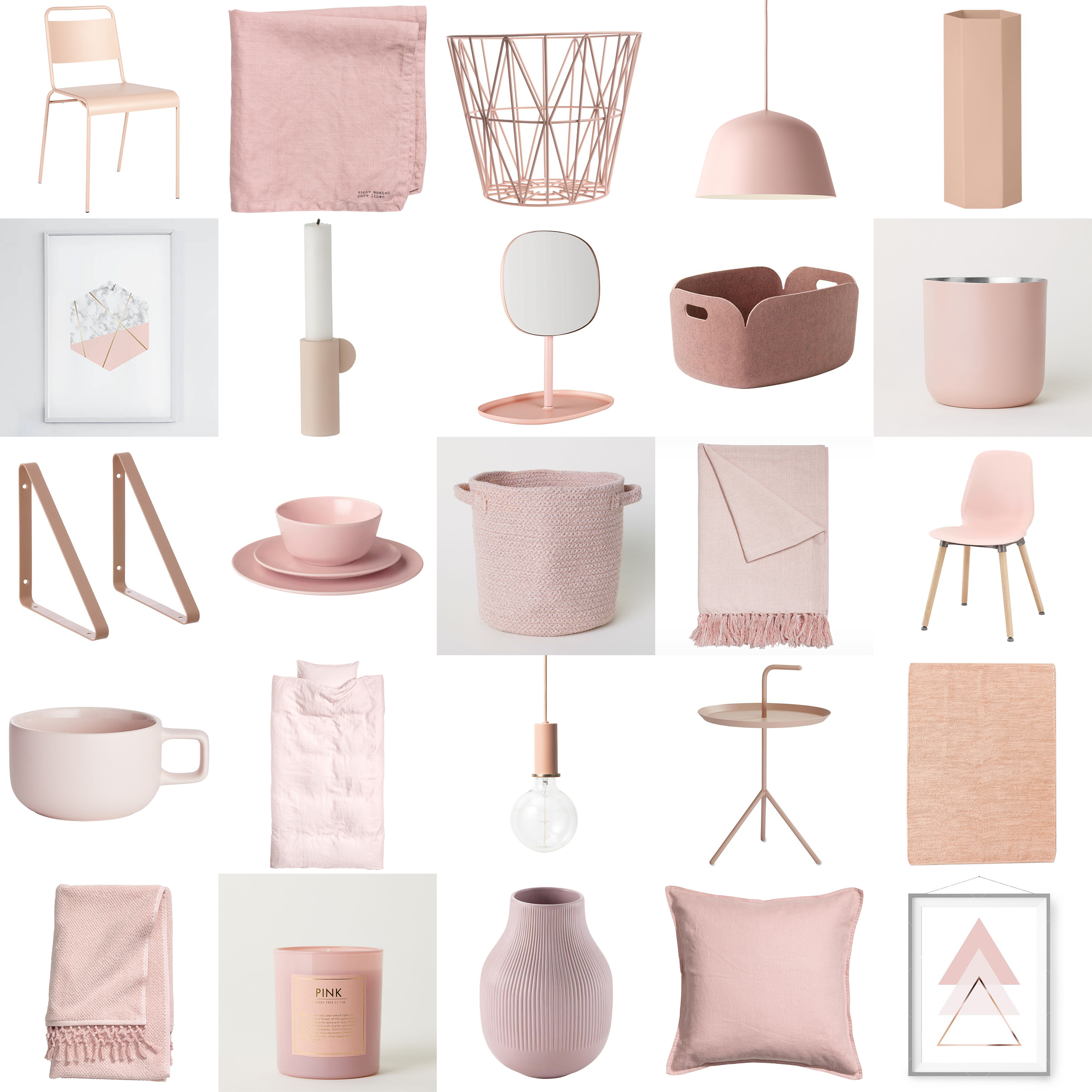 freshen up your home decor with blush pink accents happy. Black Bedroom Furniture Sets. Home Design Ideas