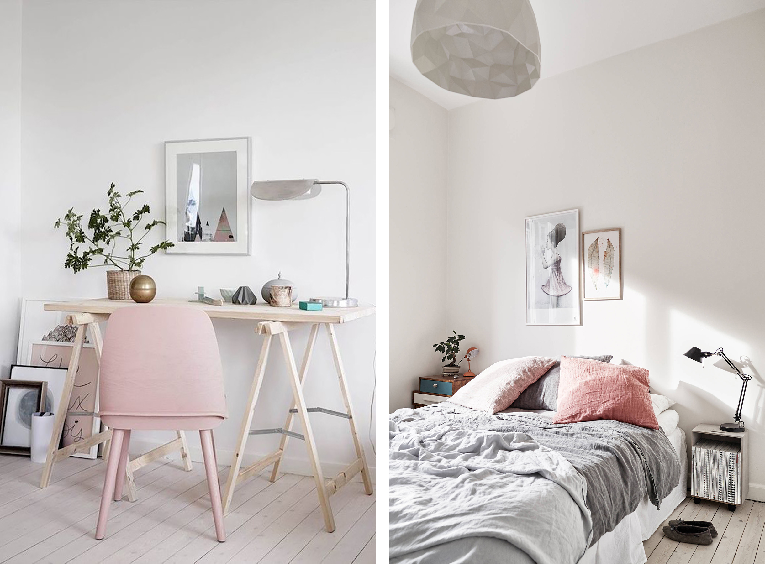Scandinavian Interior With Blush Pink Accents Hy Grey Lucky