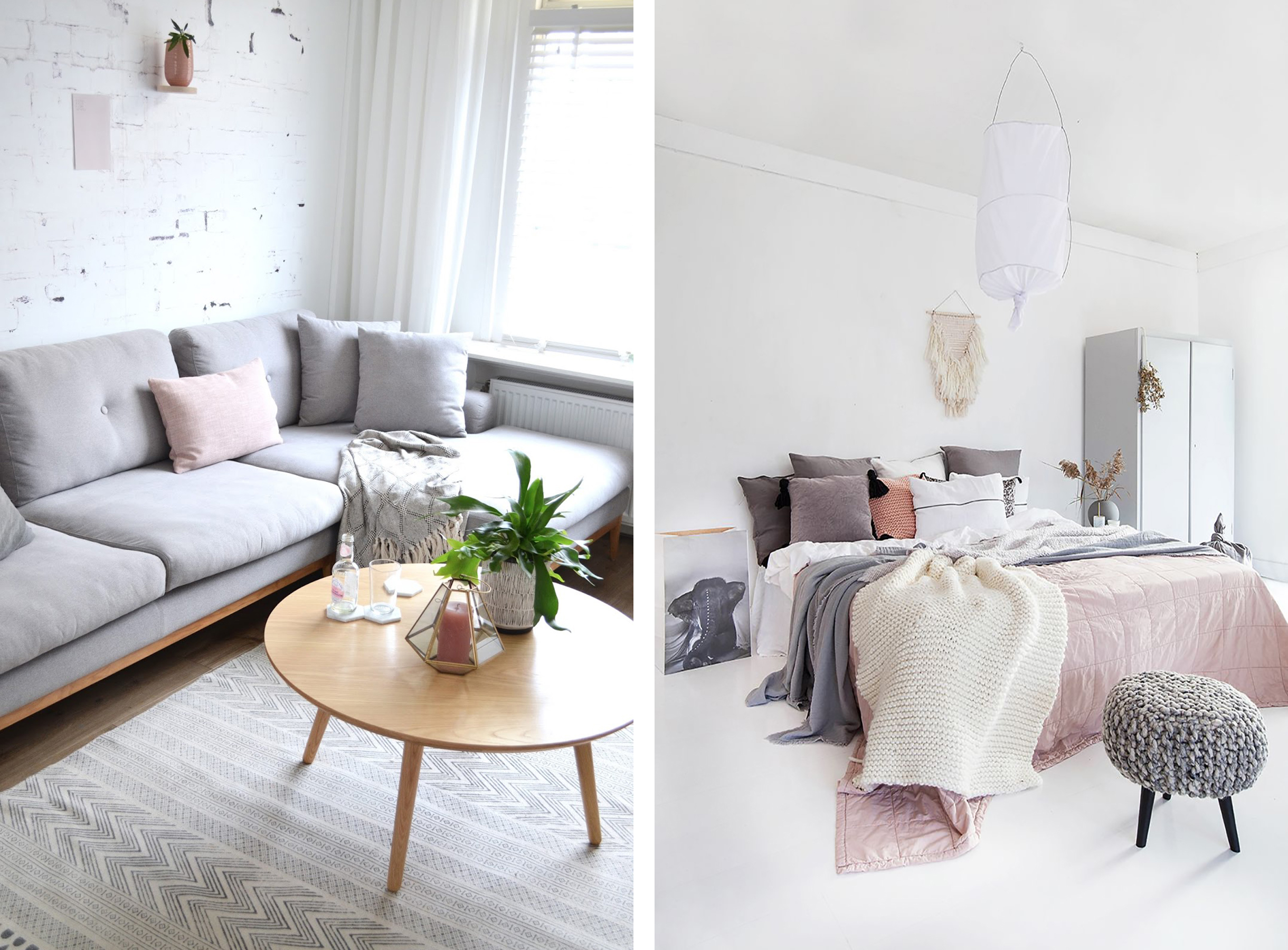 freshen up your home decor with blush pink accents happy grey lucky