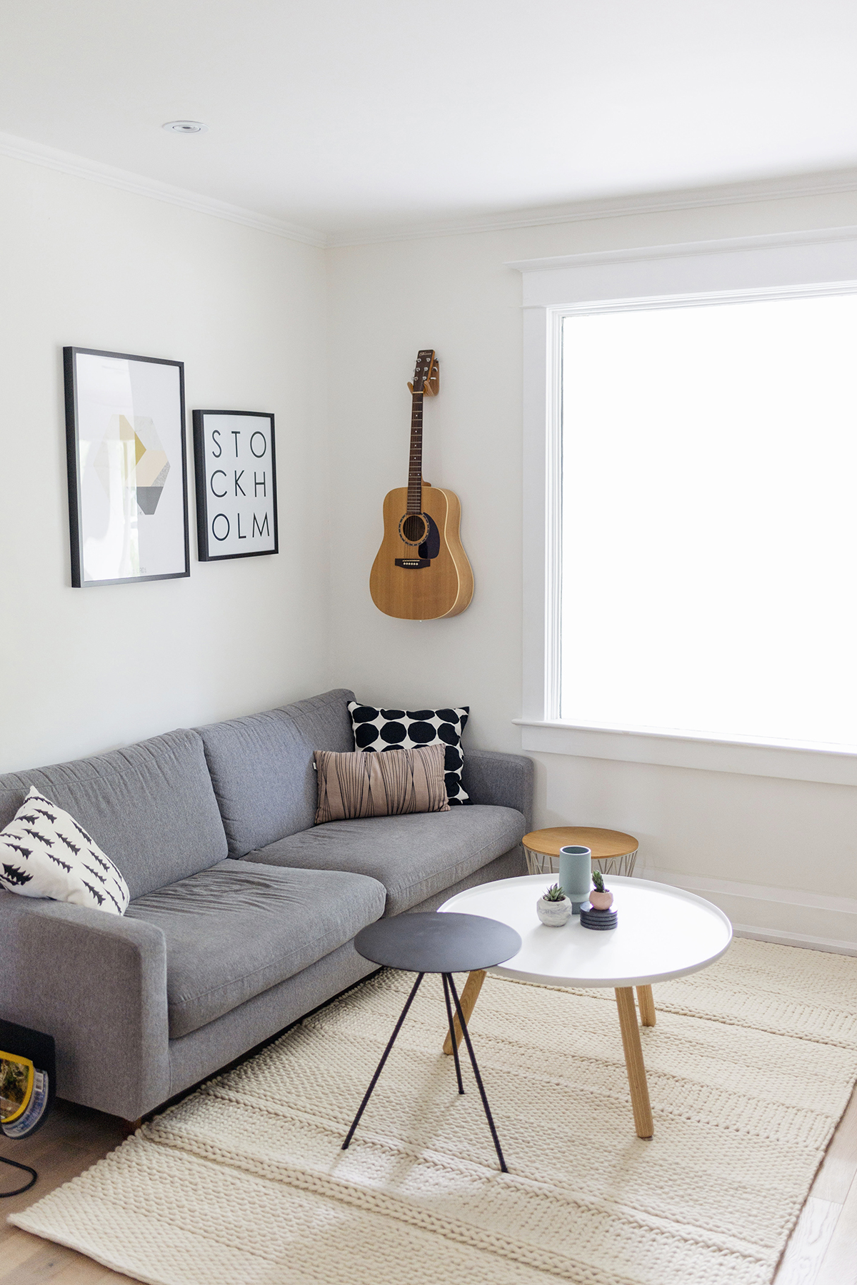 scandinavian living room monochrome minimalist interior happy grey lucky - Scandinavian Living Room