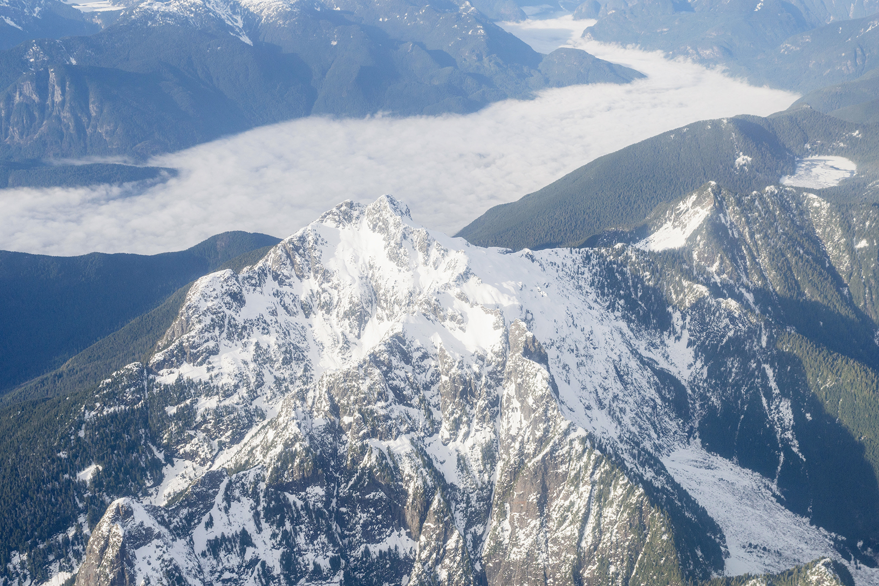 British Columbia mountains from above | Happy Grey Lucky