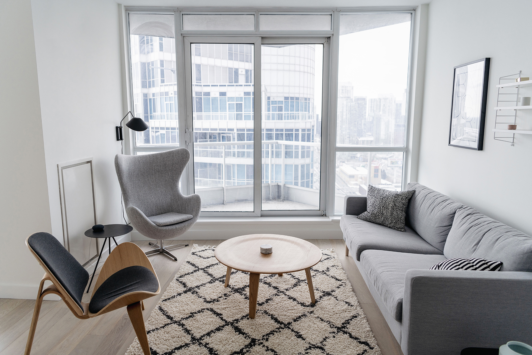 Condo Living Room Tour A Bright Minimalist Space Happy Grey Lucky