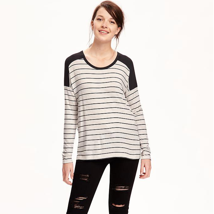 Old Navy striped boyfriend tee