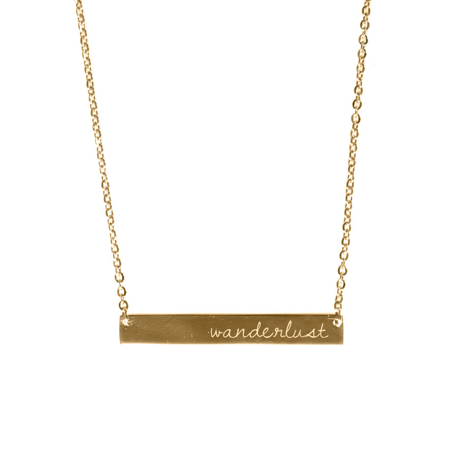 Wanderlust + co plate necklace