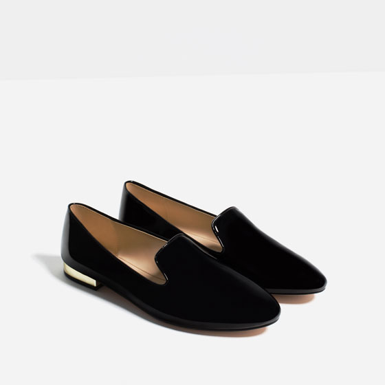 Zara patent finish flats