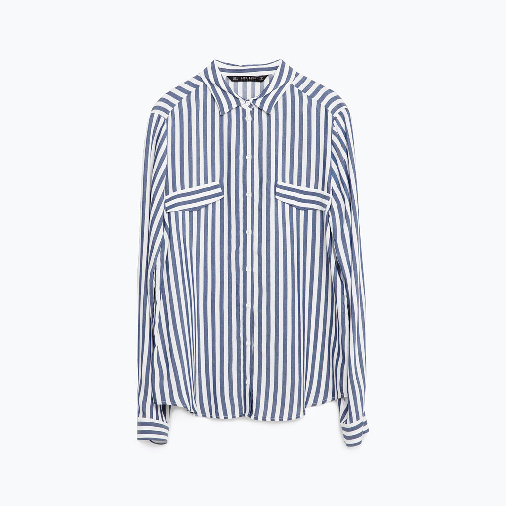 Zara striped blouse