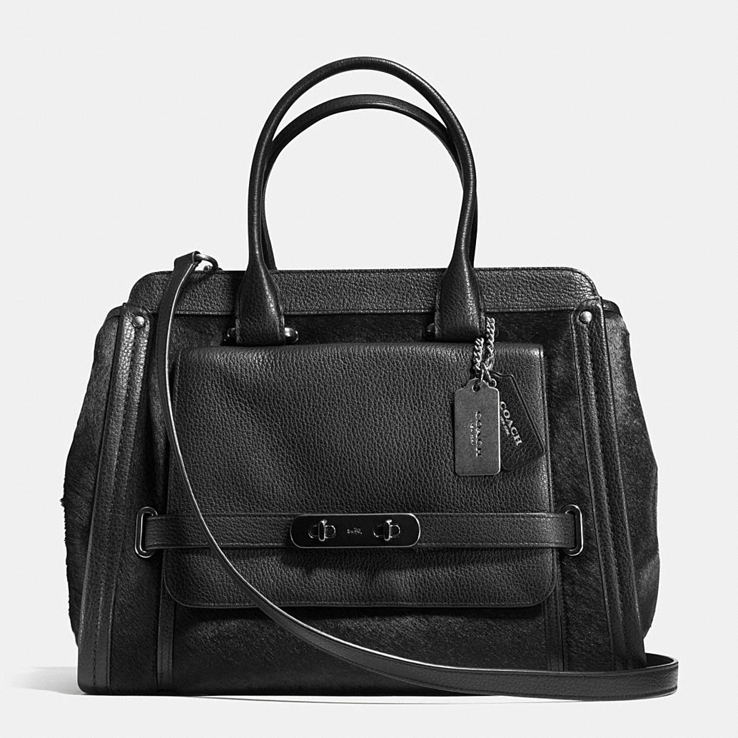 Coach swagger frame satchel