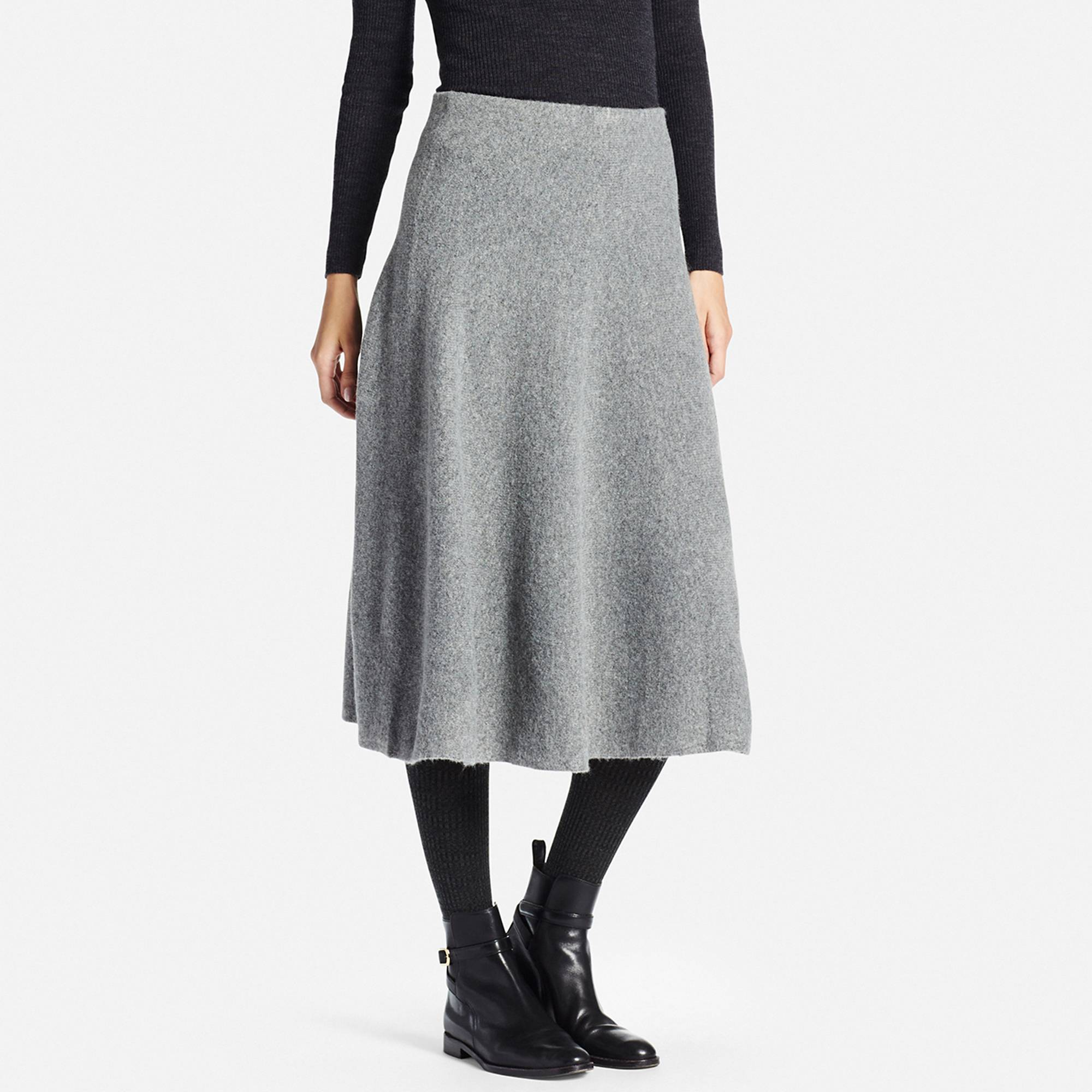 Uniqlo felted long skirt