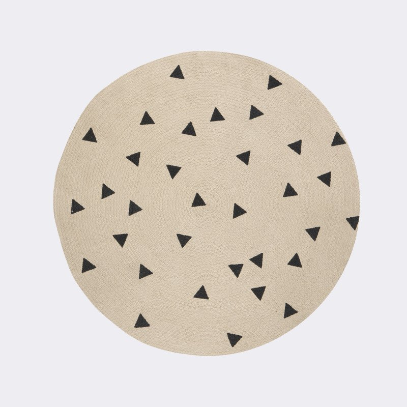 Ferm Living round triangle carpet