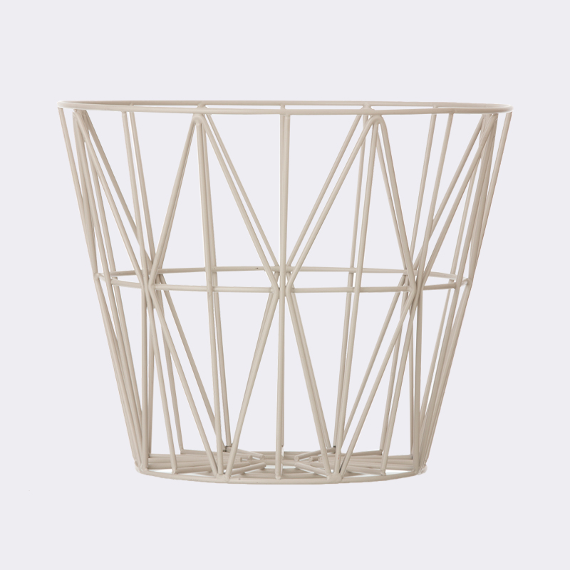 Ferm Living small wire basket, grey