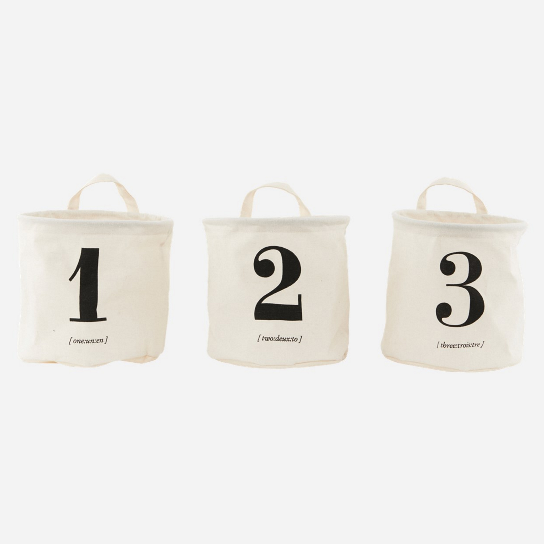 House Doctor numbers storage baskets