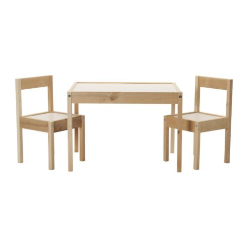 IKEA Lätt children's table and chairs