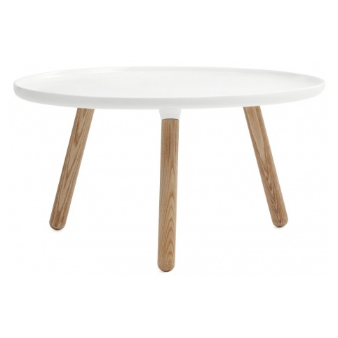 Normann Copenhagen Tablo coffee table, white and ash