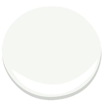 Benjamin Moore Chantilly Lace (OC 65) ceiling + trim paint