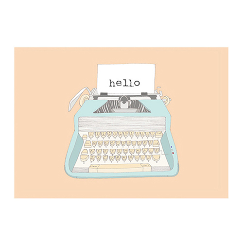 Seventy Tree typewriter postcard