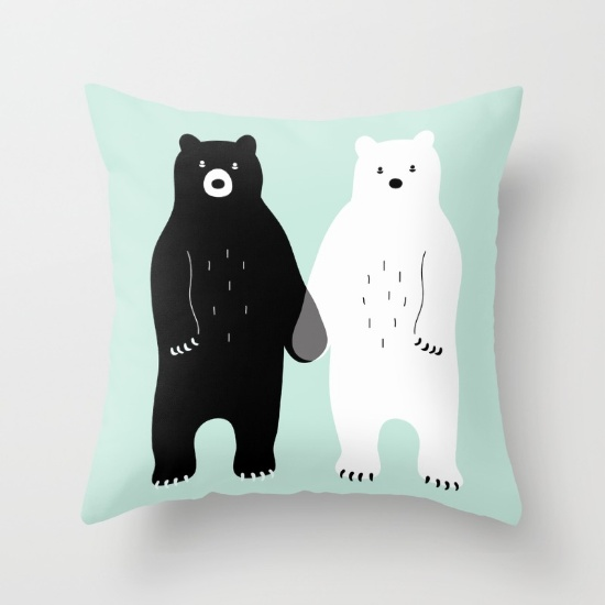 Andy Westface bear pillow