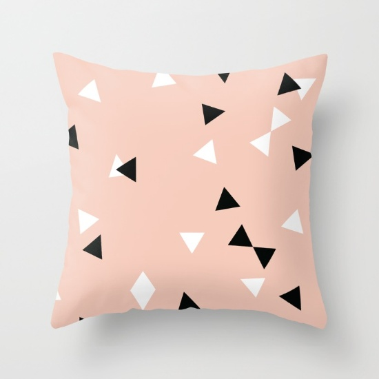 Charlie Jane triangles pillow