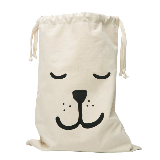 Tellkiddo sleeping bear fabric storage bag
