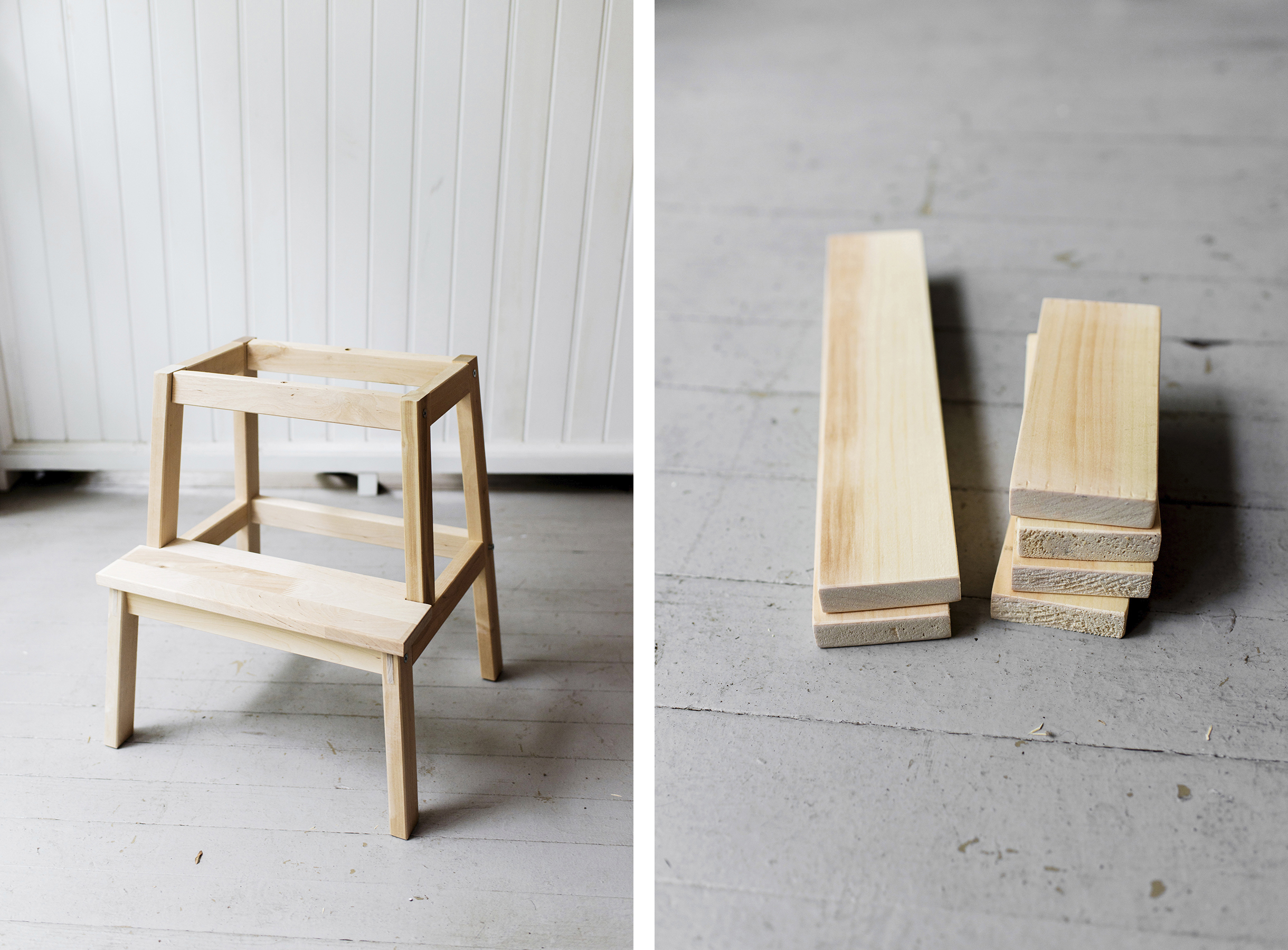 Ikea Hack Toddler Learning Tower Using A Bekväm Stool Tutorial Step By