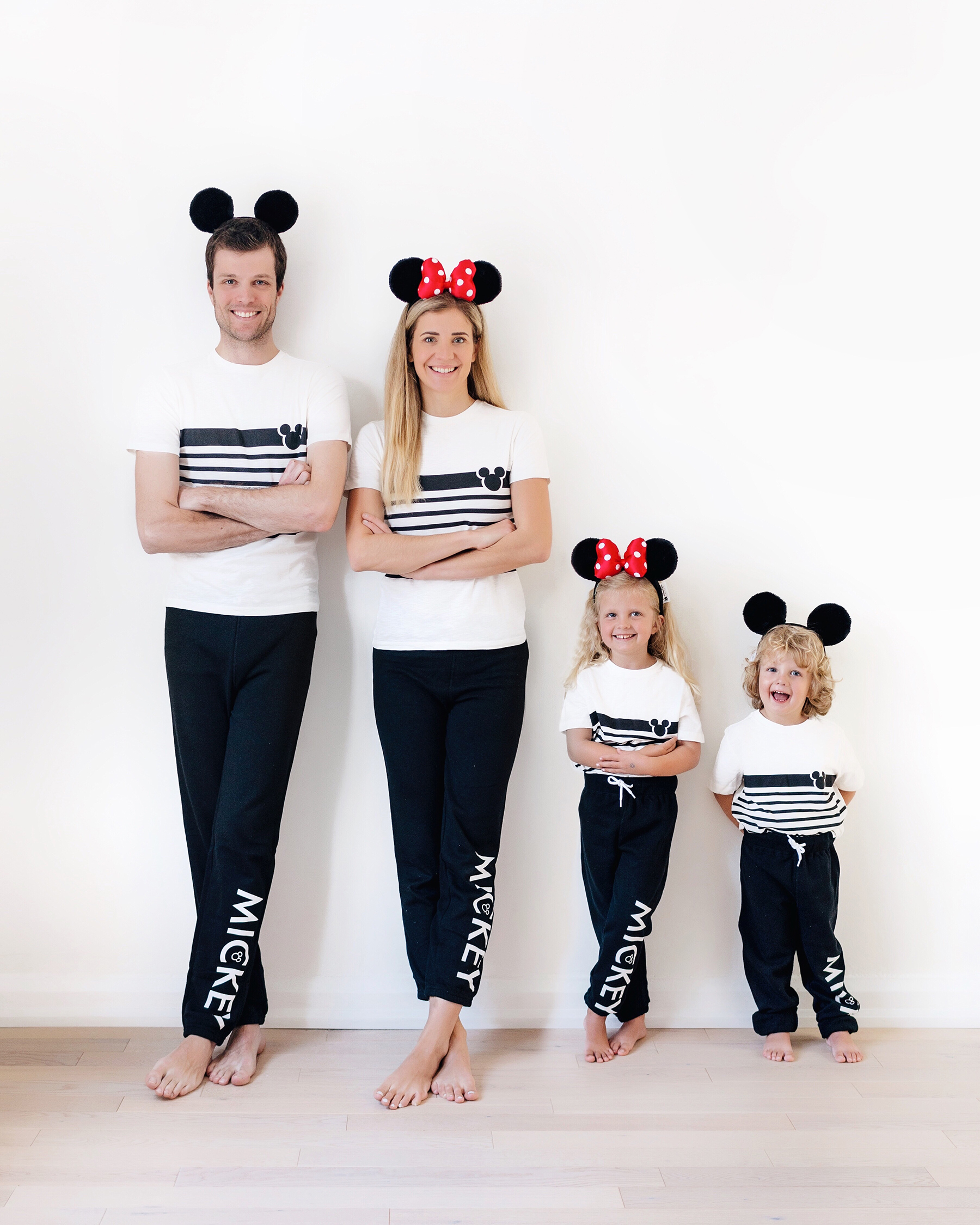 Matching Family Disney Outfits Happy Grey Lucky